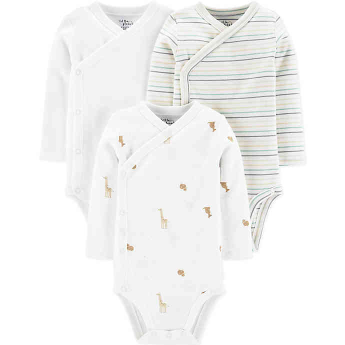 Little Planet Organic by carter's® 3-Pack Animals Organic Cotton Side Snap Bodysuits