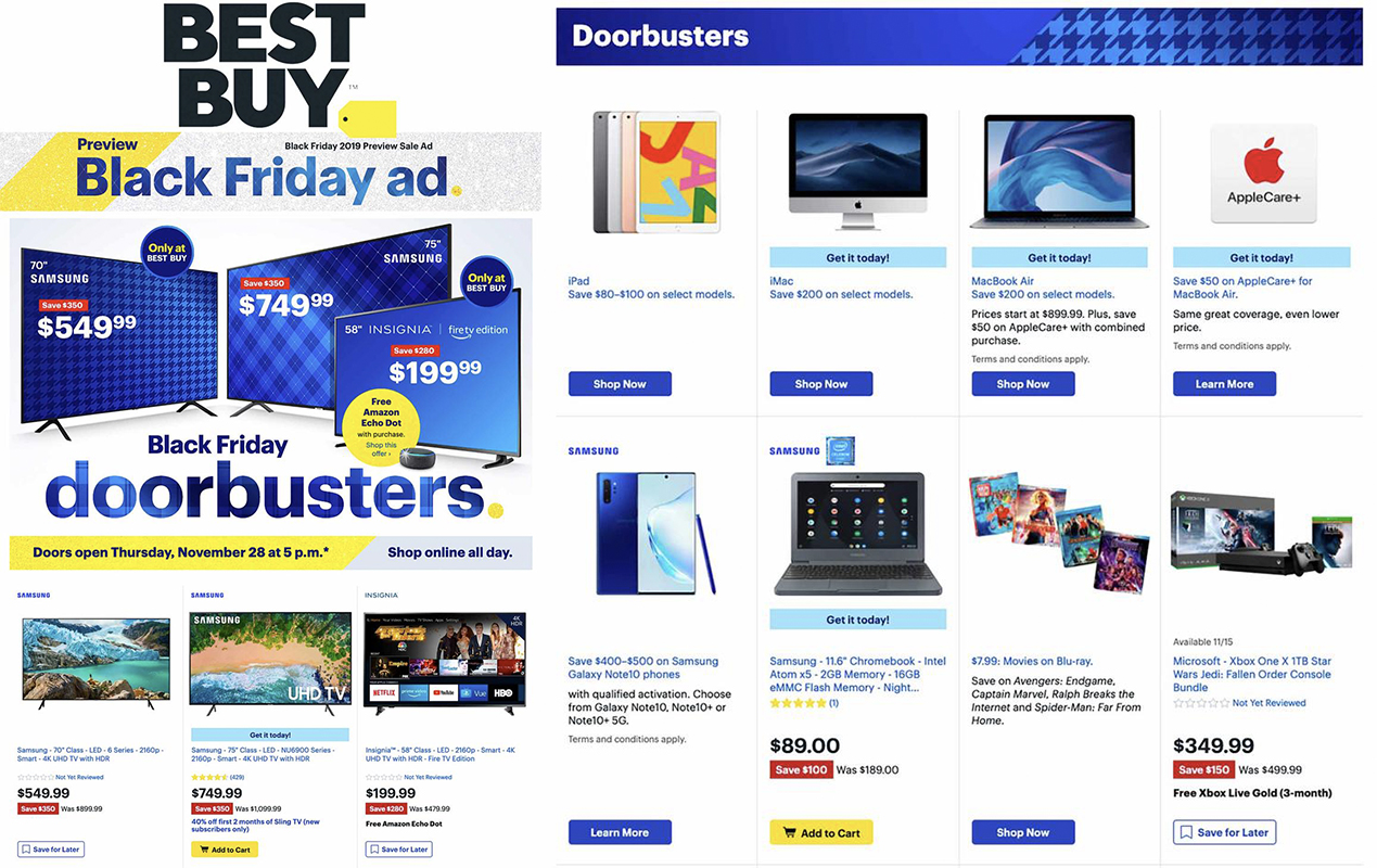 Best Buy Black Friday 2019 ad