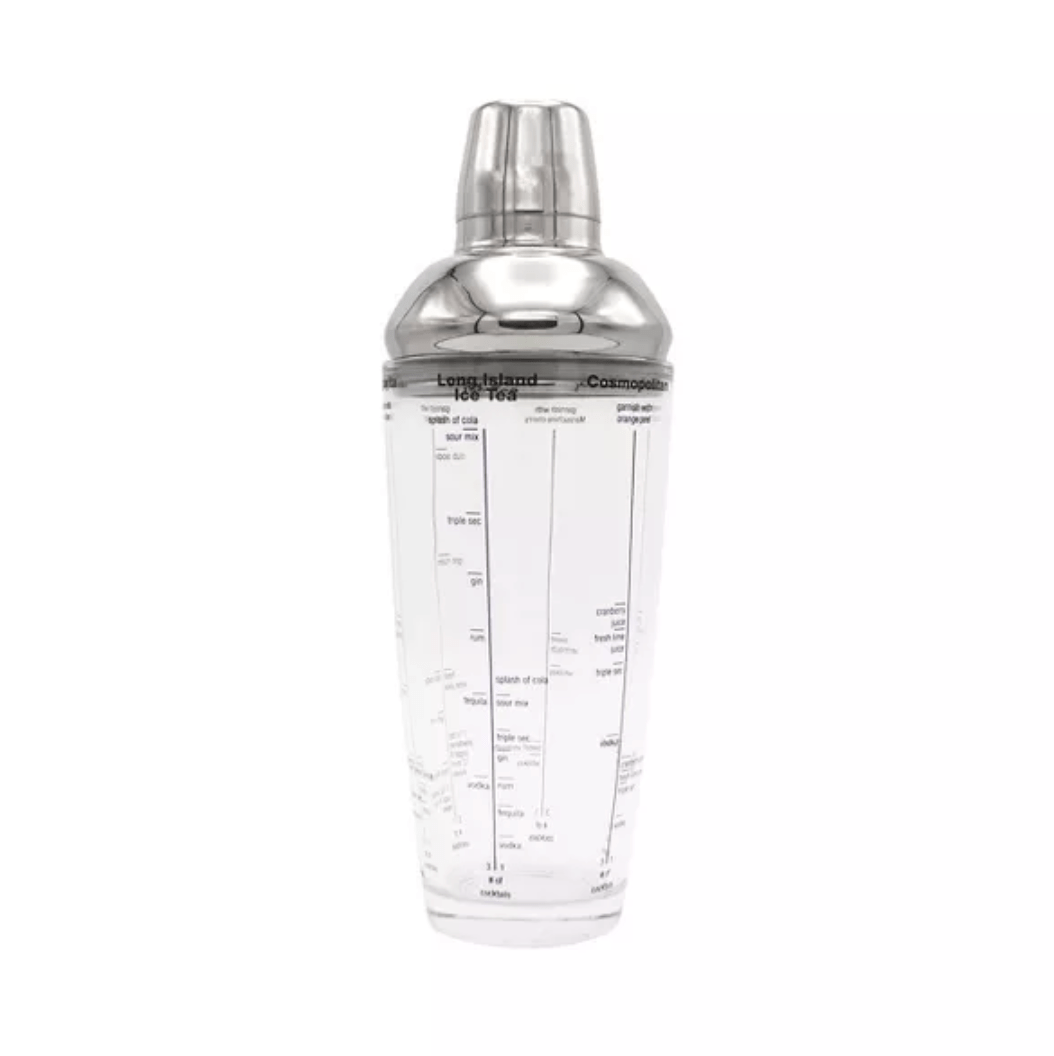 Houdini 24oz Recipe Cocktail Shaker Glass