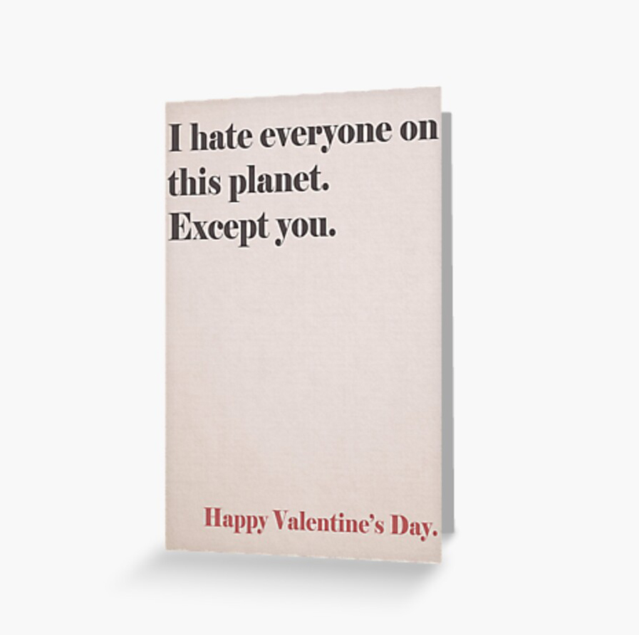 RedBubble Except You Greeting Card