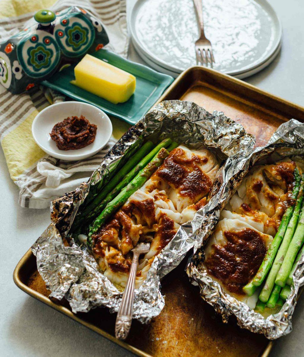 Table for Two Miso Butter Cod Foil Packets