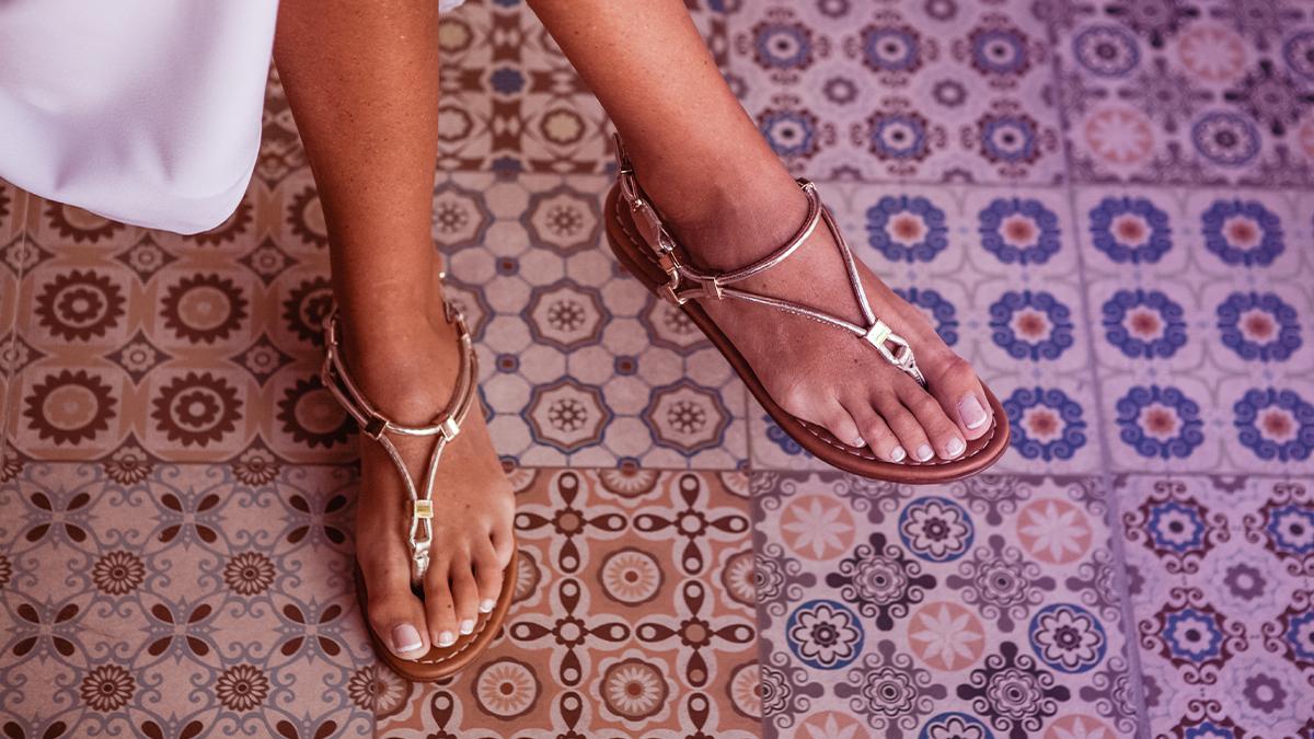Girl in sandals