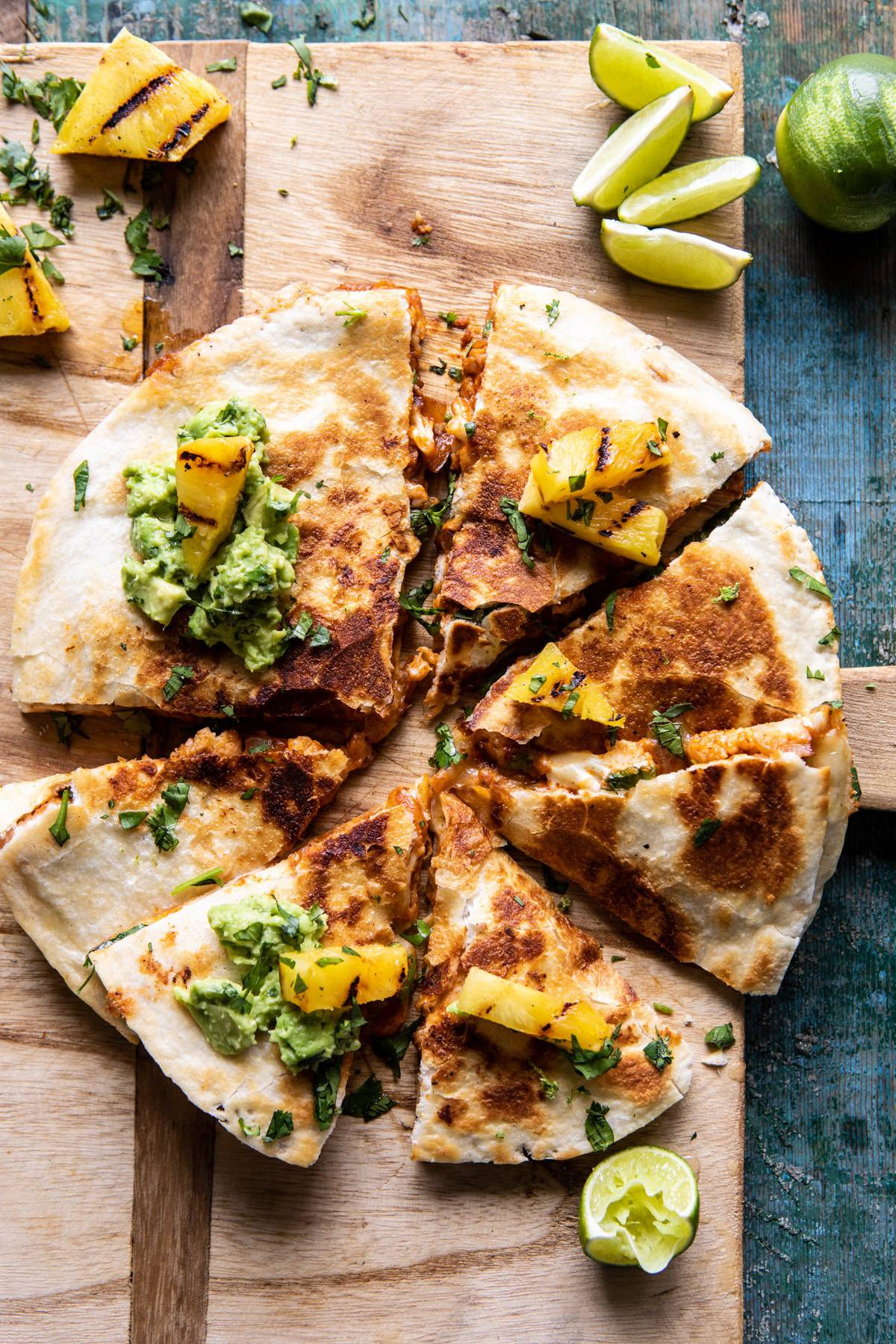 Cauliflower Al Pastor Quesadillas