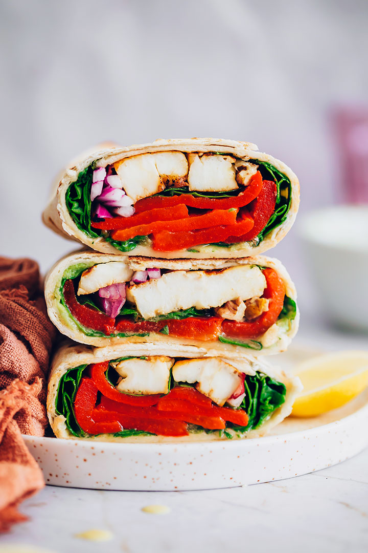 Avocado and Halloumi Veggie Wrap