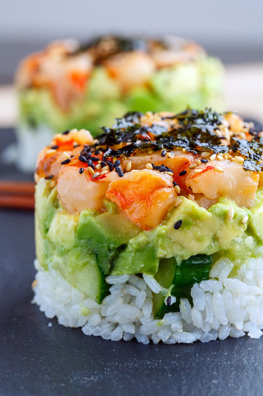https://www.closetcooking.com/spicy-shrimp-sushi-stacks