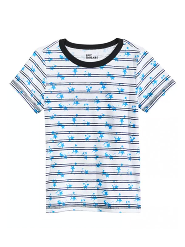 Epic Threads Big Boys Splatter Stripe T-Shirt