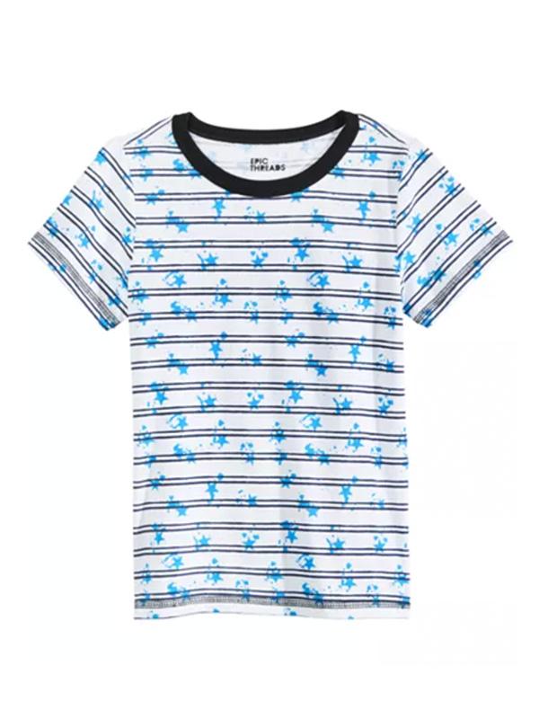 Epic Threads Big Boys Splatter Stripe T-Shirt