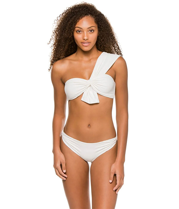 Venice Knot Tie Asymmetrical Bikini Top