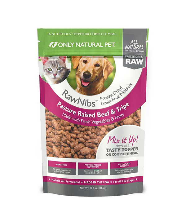RawNibs Freeze Dried Dog Food – Beef & Tripe