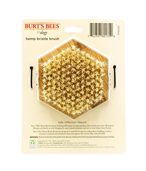 Burt's Bees Palm Help Bristle Dog Brush