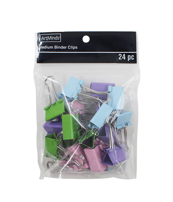 Multicolor Medium Binder Clips by ArtMinds