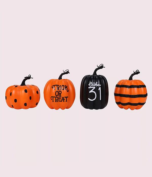 4pk Classic Halloween Foam Pumpkins