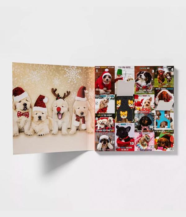 Women's Dog Lovers 15 Days of Socks Advent Calendar