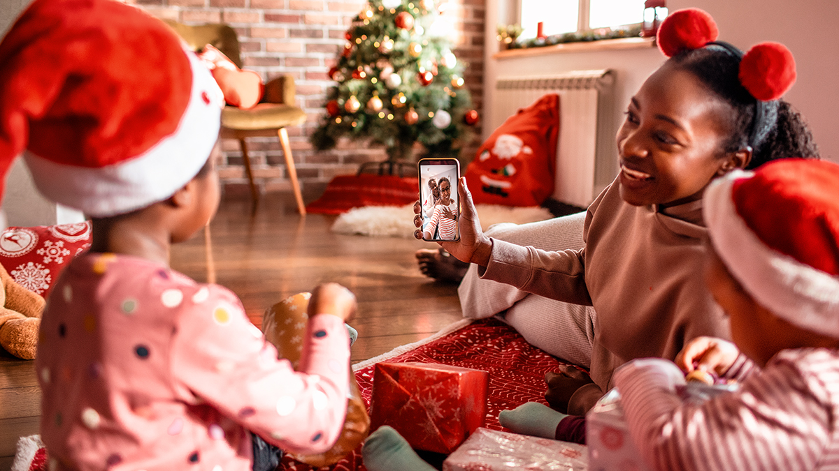 Christmas over video chat