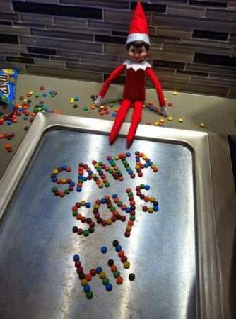 Candy elf on the shelf