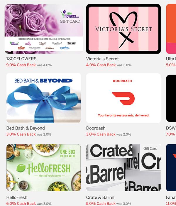 E-Gift Cards with Rakuten
