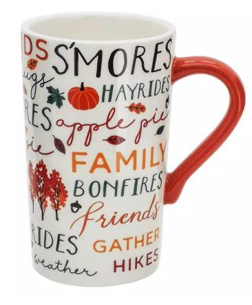 Celebrate Fall Together Fall Word Toss Latte Mug