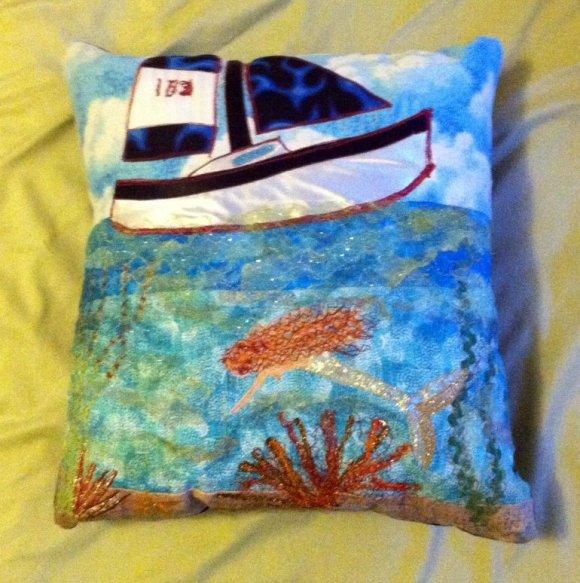 Custom Sailboat Pillow