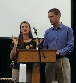 Bethany Tobin & Steve Horst speaking May 24, 2015