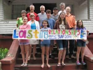 Group photo of RMCers volunteering with MCC's SWAP program in Elkhorn, WV.