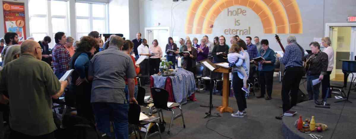Worshiping together at RMC Jan. 21, 2018