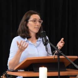 Melissa preaching on October 21, 2018