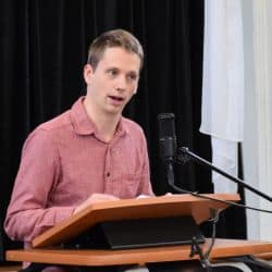 Nathan Hershberger preaching at RMC Feb. 17, 2019