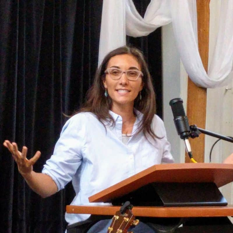 Melissa preaching at RMC on August 18, 2019