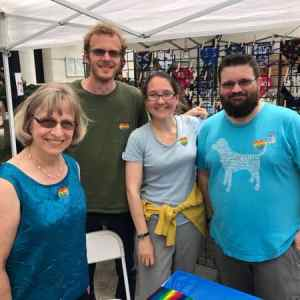 RMCers at our booth at the 2019 Out Raleigh festival