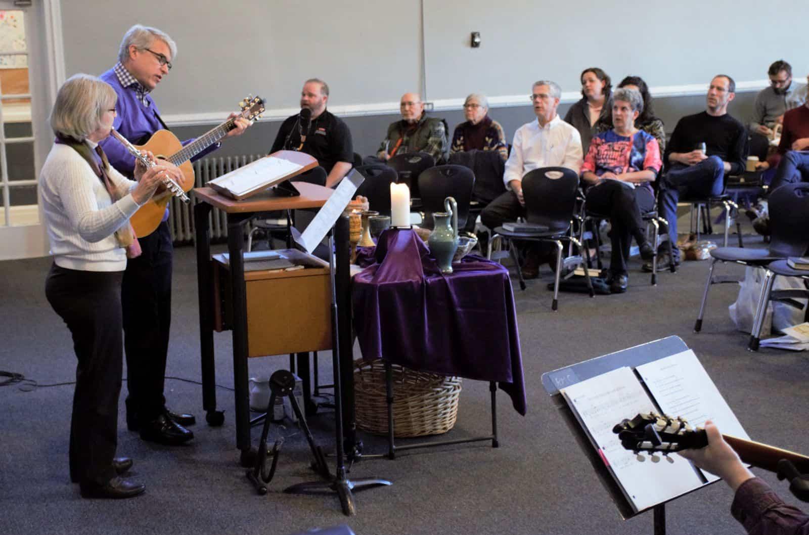 Congregational singing led by Rosene and David on Jan. 26, 2020