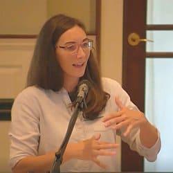 Melissa Florer-Bixler preaching Aug. 8, 2021 at Shepherd's Hall.