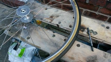 Wheel with bearings removed