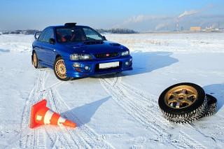 BUZZ Ice Driving Academy Subaru Impreza STI 22B