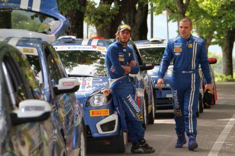 Prima dello start Bosca e Arici, in lotta per il podio