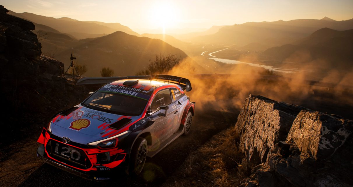 Thierry Neuville (BEL) Nicolas Gilsoul (BEL) of team Hyundai Shell Mobis WRT is seen at special stage nr. 8 during the World Rally Championship Monte-Carlo in Gap, France on January 25, 2019