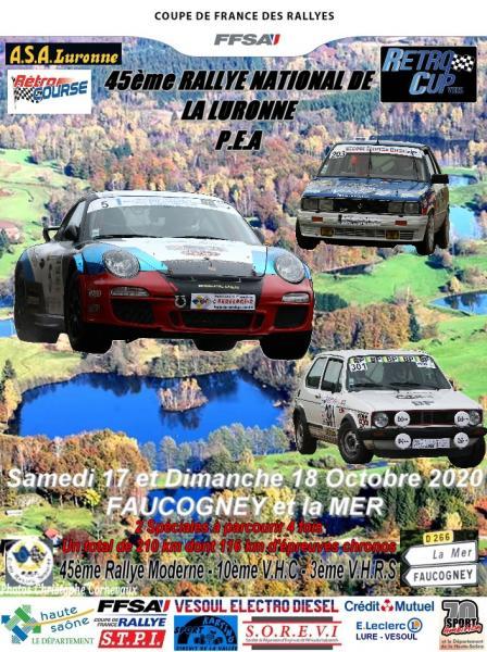 45 ème rallye de la Luronne
