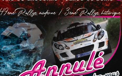 Le Rallye du Pays de Caux Ville de Lillebonne est annulé