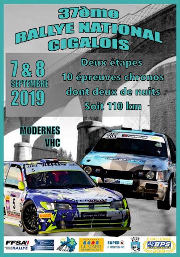 Rallye National Cigalois : ANNULE suite à des problèmes liés au Pass Sanitaire