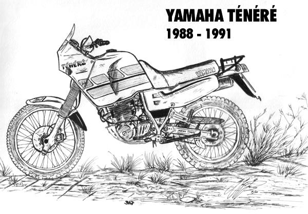 Zeichnungen der Rallye-Tenere-Seite