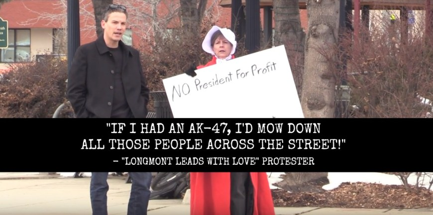 "VIDEO: Leftist Protester Wants AK-47 To ""Mow Down"" Gun Rights Activists"