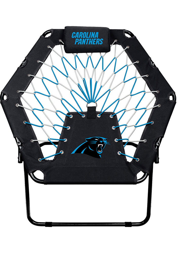 carolina panthers folding chairs wooden wedding tailgate gear shop merchandise premium black bungee chair