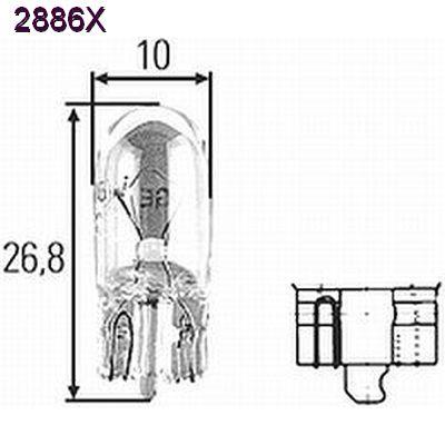 CP2886X 6W 12V Xenon Incandescent Bulb, 85 lumens vs 50