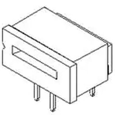 MOLEX 39-51-3073 1.25mm (.049) Right Angle, ZIF Receptacle