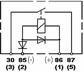 hella relay wiring diagram 2 2003 jeep tj radio hl43710 heavy duty spst 12v 60a with diode and bracket