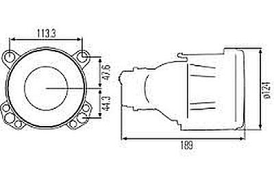 Headlamp Low Beam DE H1, Design Smoke, 124mm, 1BL 006 349