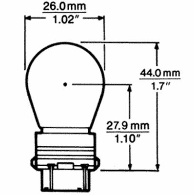 CP3157 12v 27/8w Incandescant Bulb 3157 W2.5x16q Wedge
