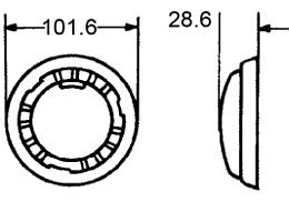 Hella 3231 Series Round Interior Lamp w/Switch, 12V