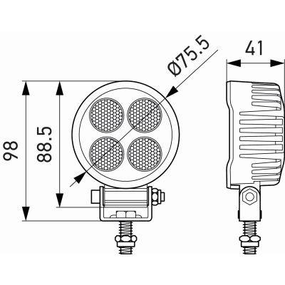 HELLA ValueFit TS3000 LED Work Lamp
