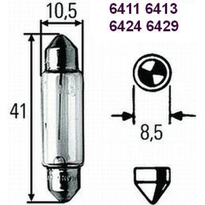 HELLA SV8.5-8 x 31>37mm Original Equipment Quality Festoon