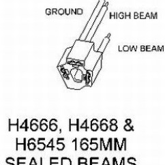 Hella Lights Wiring Diagram For Honeywell Thermostat Adapter From 165mm Sealed Beams To H4 Conversion Lamps | Rally